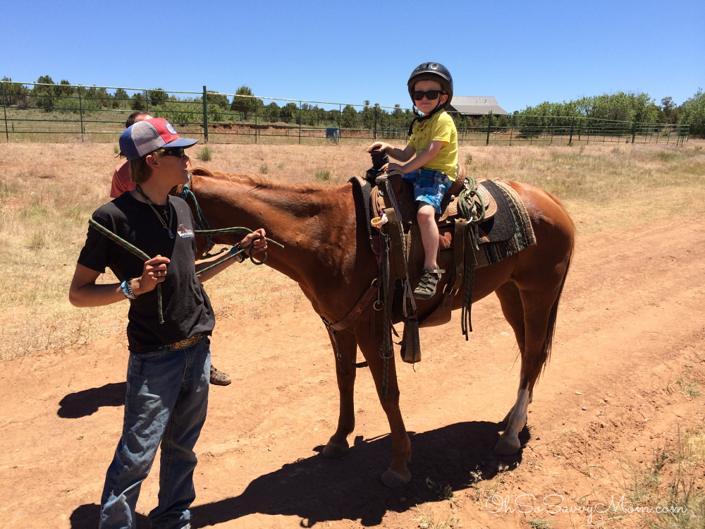 Horse back riding instruction Zion Ponderosa