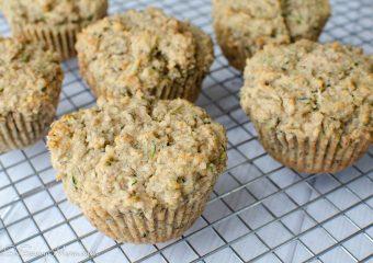 gluten-free banana zucchini bread muffins