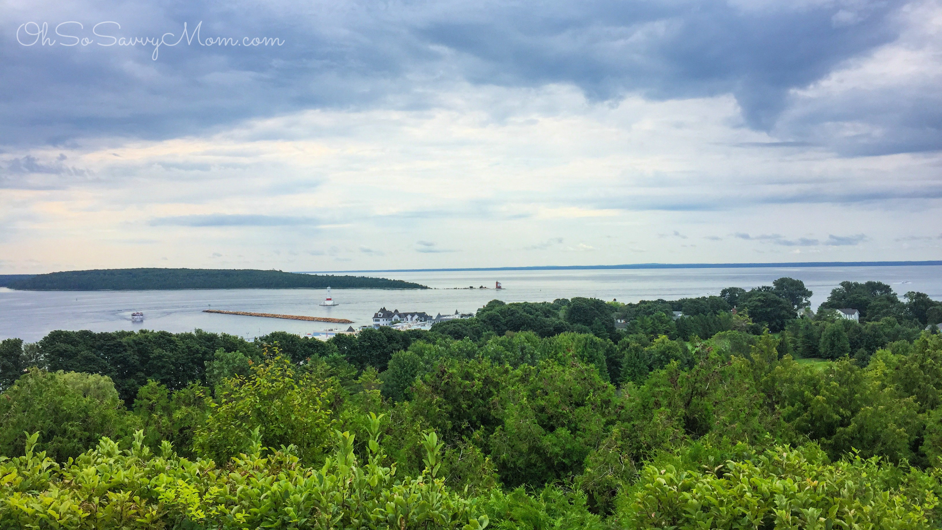 View of the Great Lakes from Mackinac Island
