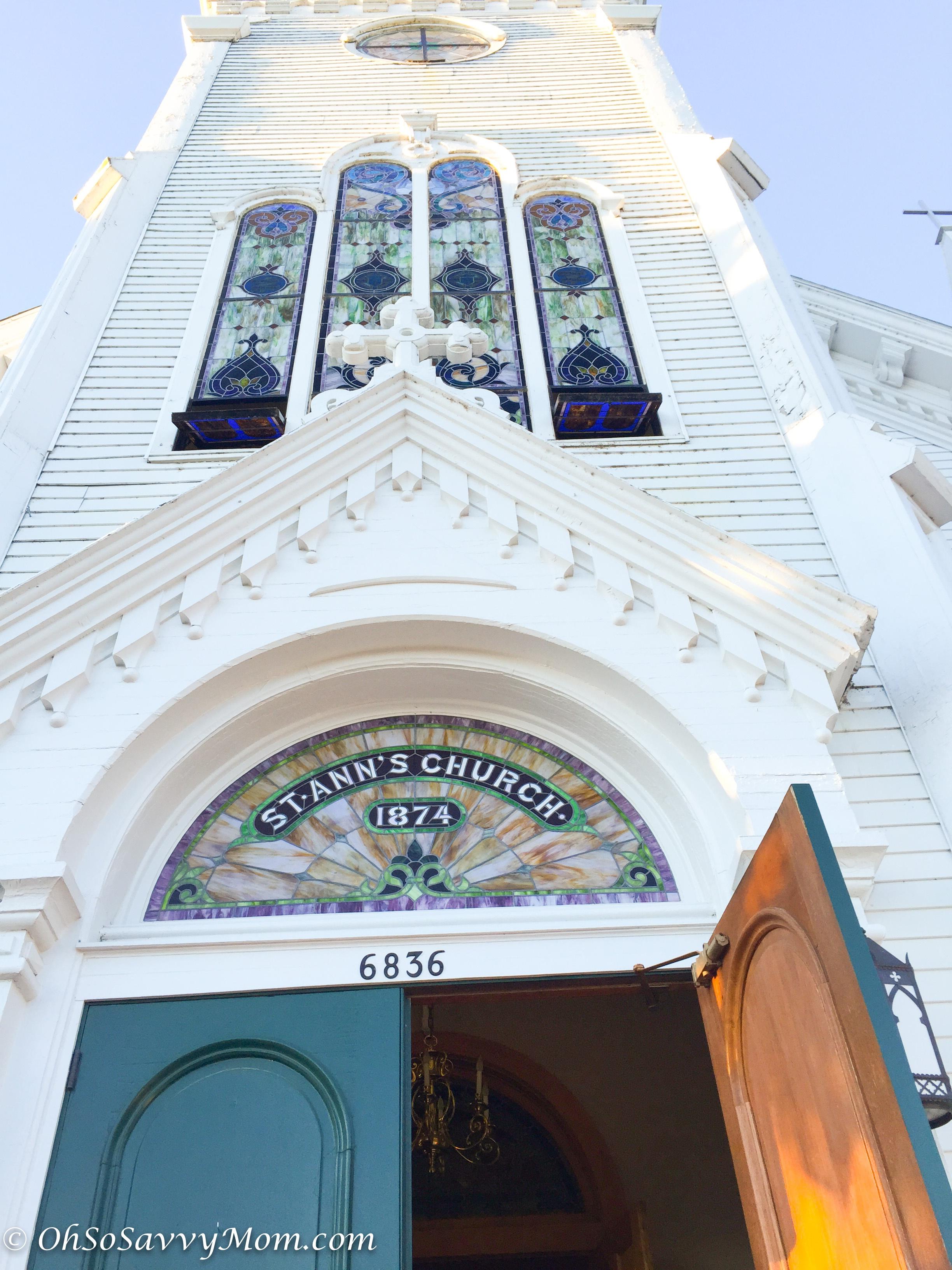 St. Ann's Church Mackinac Island beautiful stained glass